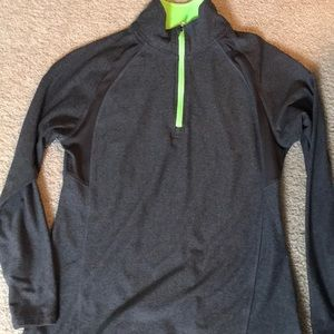 Gray and lime athletic pullover